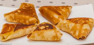 Photo de recette de crêpes, samoussa, pomme, facile, rapide, léger, bio de Kilomètre-0, blog de cuisine réalisée à partir de produits locaux et issus de circuits courts