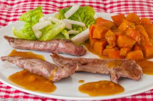 Photo de recette de canard, potimarron, orange, facile, léger, rapide, de Kilomètre-0, blog de cuisine réalisée à partir de produits locaux et issus de circuits courts