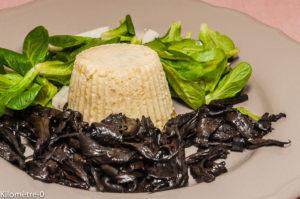 Photo de recette de mousseline de merlu, trompette de la mort, facile, rapide, léger de Kilomètre-0, blog de cuisine réalisée à partir de produits locaux et issus de circuits courts
