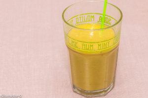 Photo de recette de smoothie, kiwi, orange, banane, bio, léger, rapide, facile de Kilomètre-0, blog de cuisine réalisée à partir de produits locaux et issus de circuits courts