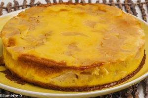 Photo de recette de flognarde aux pommes, facile, rapide, léger de Kilomètre-0, blog de cuisine réalisée à partir de produits locaux et issus de circuits courts