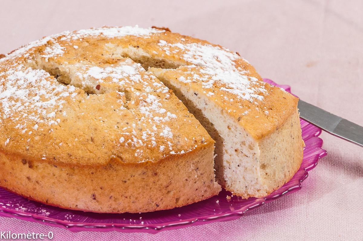 Photo de recette de gâteau, le creusois, facile, rapide, noisettes, Kilomètre-0, blog de cuisine réalisée à partir de produits locaux et issus de circuits courts