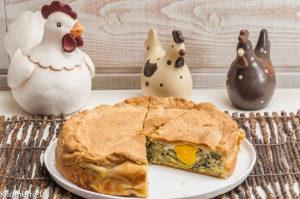 Photo de recette italienne pascale, de tourte de Pâques facile, blettes, oeufs, léger, bio de Kilomètre-0, blog de cuisine réalisée à partir de produits locaux et issus de circuits courts