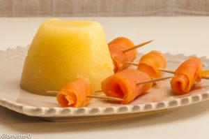 Photo de recette de bavarois d'ananas, truite fumée, rapide, facile, Kilomètre-0, blog de cuisine réalisée à partir de produits locaux et issus de circuits courts