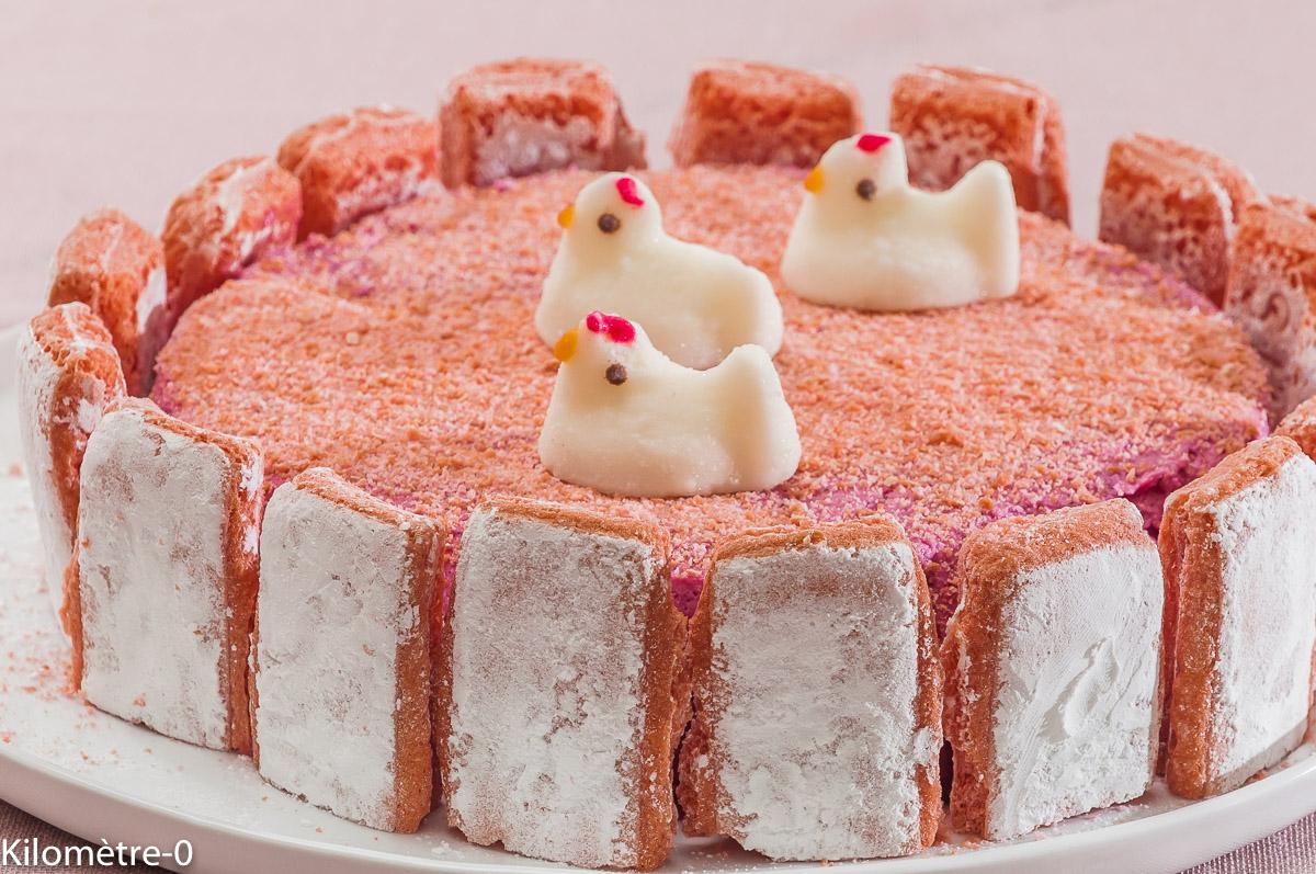 Photo de recette de charlotte au cassis, Pâques, facile, Kilomètre-0, blog de cuisine réalisée à partir de produits locaux et issus de circuits courts