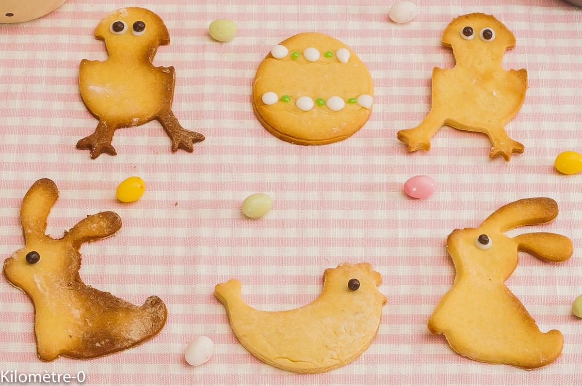 Photo de recette de petits sablés, Pâques, enfant, facile, original, rapide, Kilomètre-0, blog de cuisine réalisée à partir de produits locaux et issus de circuits courts