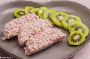 Photo de recette de terrine de jambon blanc, kiwis facile, rapide, léger de Kilomètre-0, blog de cuisine réalisée à partir de produits locaux et issus de circuits courts