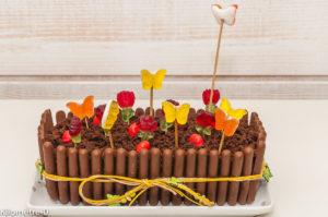 Photo de recette de jardinière au chocolat, gâteau, anniversaire, Pâques, facile, fête, fleurs, beau, Kilomètre-0, blog de cuisine réalisée à partir de produits locaux et issus de circuits courts