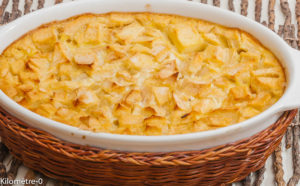 Photo de recette de far aux pommes, facile, rapide, bio de Kilomètre-0, blog de cuisine réalisée à partir de produits locaux et issus de circuits courts