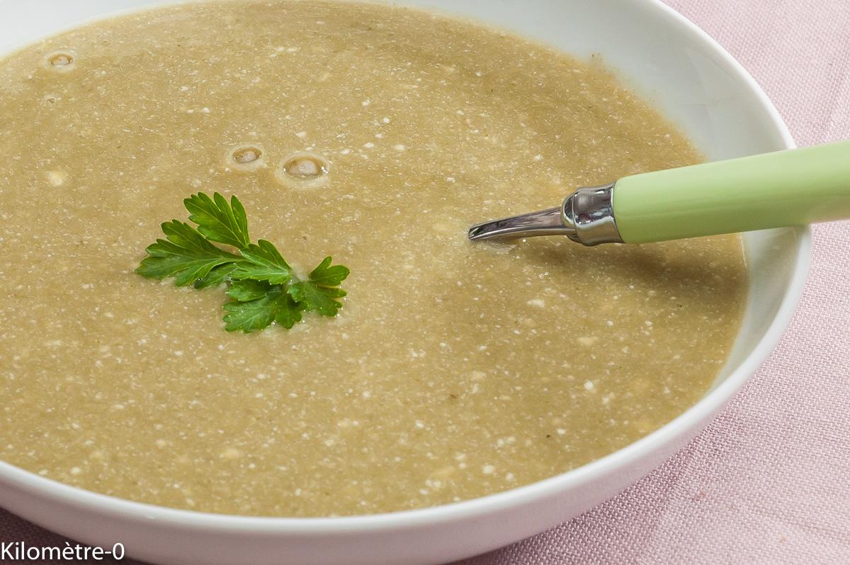 Photo de recette de soupe radis ricotta facile, rapide, léger de  Kilomètre-0, blog de cuisine réalisée à partir de produits locaux et issus de circuits courts