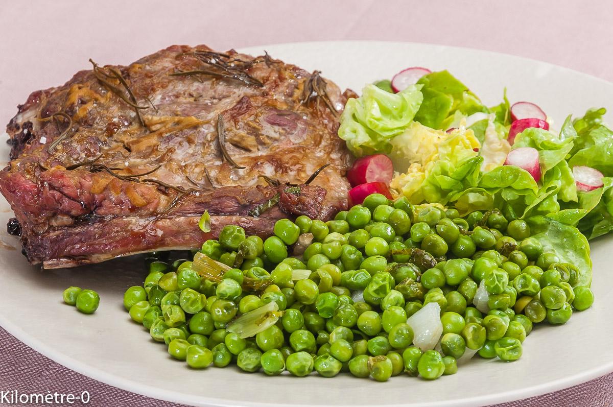 Photo de recette de travers de porc, petits pois, romarin, moutarde de  Kilomètre-0, blog de cuisine réalisée à partir de produits locaux et issus de circuits courts