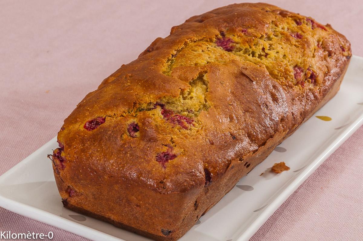Photo de recette de cake, ricotta, framboise, pistache, facile, rapide, léger, Kilomètre-0, blog de cuisine réalisée à partir de produits locaux et issus de circuits courts