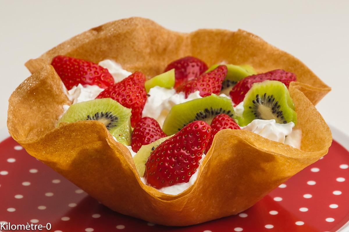 Photo de recette de fraises à la chantilly, corolle, kiwis, facile, rapide, léger de  Kilomètre-0, blog de cuisine réalisée à partir de produits locaux et issus de circuits courts