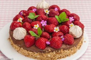 Photo de recette de cheesecake, mousse, chocolat, fraises, pays de la loire, Nantes, facile de  Kilomètre-0, blog de cuisine réalisée à partir de produits locaux et issus de circuits courts
