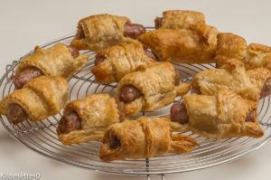Photo de recette de feuilleté, saucisse, chipolatas, rapide, facile, Kilomètre-0, blog de cuisine réalisée à partir de produits locaux et issus de circuits courts