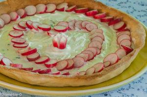 Photo de recette de tarte, chèvre frais, radis, facile, bio, de  Kilomètre-0, blog de cuisine réalisée à partir de produits locaux et issus de circuits courts