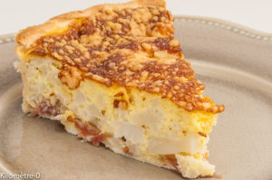 Photo de recette de tarte, quiche, chou fleur, facile, rapide, léger de Kilomètre-0, blog de cuisine réalisée à partir de produits locaux et issus de circuits courts