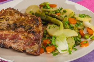 Photo de recette de travers de porc, légumes, printemps, facile, Kilomètre-0, blog de cuisine réalisée à partir de produits locaux et issus de circuits courts