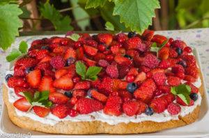 Photo de recette de shortcake, fraise, myrtilles, framboises, fruits rouges, ricotta, facile, rapide, bio de Kilomètre-0, blog de cuisine réalisée à partir de produits locaux et issus de circuits courts