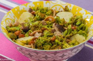 Photo de recette de salade, pomme de terre, brocolis, champignons, facile de  Kilomètre-0, blog de cuisine réalisée à partir de produits locaux et issus de circuits courts