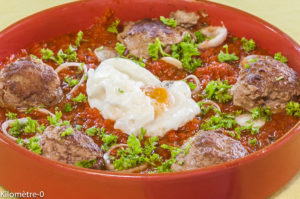 Photo de recette de tajine, keftas oeuf, cuisine marocaine, facile, Kilomètre-0, blog de cuisine réalisée à partir de produits locaux et issus de circuits courts
