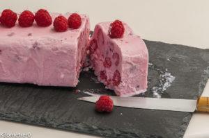 Photo de recette de glace framboise, yaourt, facile, rapide, légère, été Kilomètre-0, blog de cuisine réalisée à partir de produits locaux et issus de circuits courts