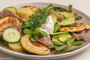 Photo de veau, pomme de terre, concombre, salade de, recette  dede Kilomètre-0, blog de cuisine réalisée à partir de produits locaux et issus de circuits courts