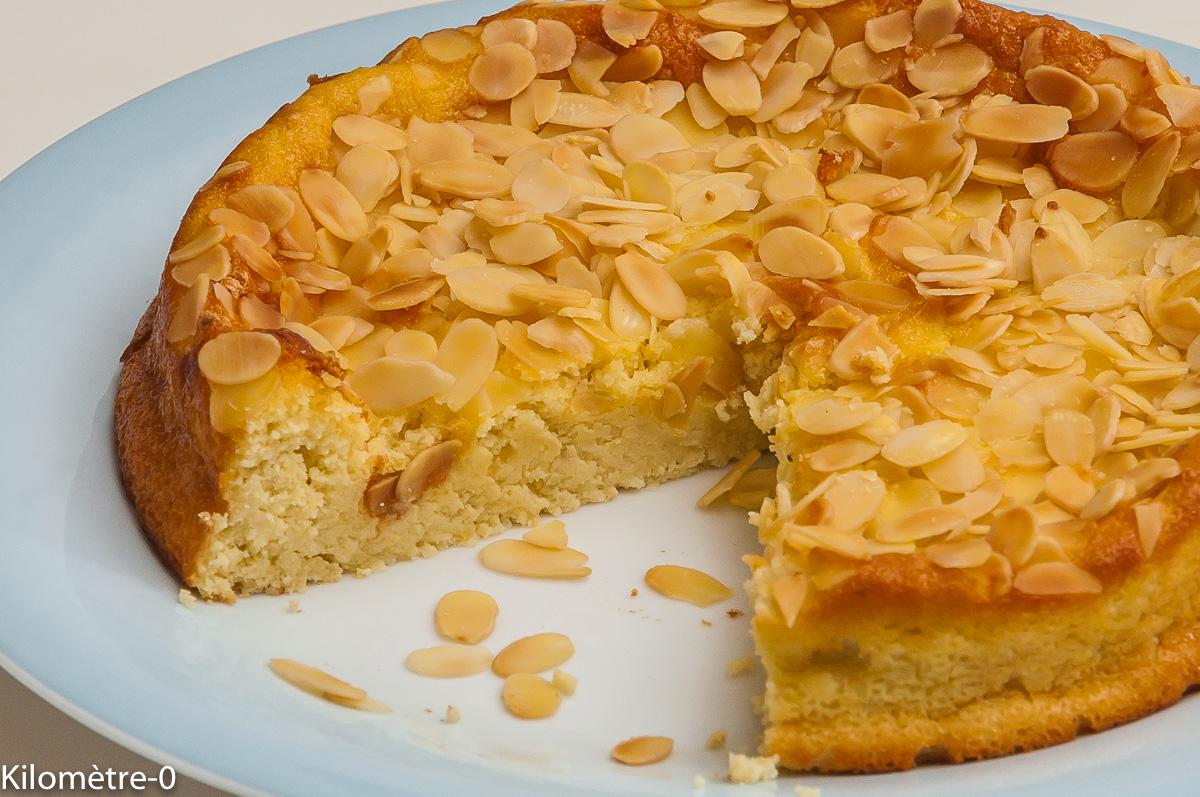 Photo de recette de gâteau, ricotta, limoncello, amande, facile, rapide, léger de Kilomètre-0, blog de cuisine réalisée à partir de produits locaux et issus de circuits courts