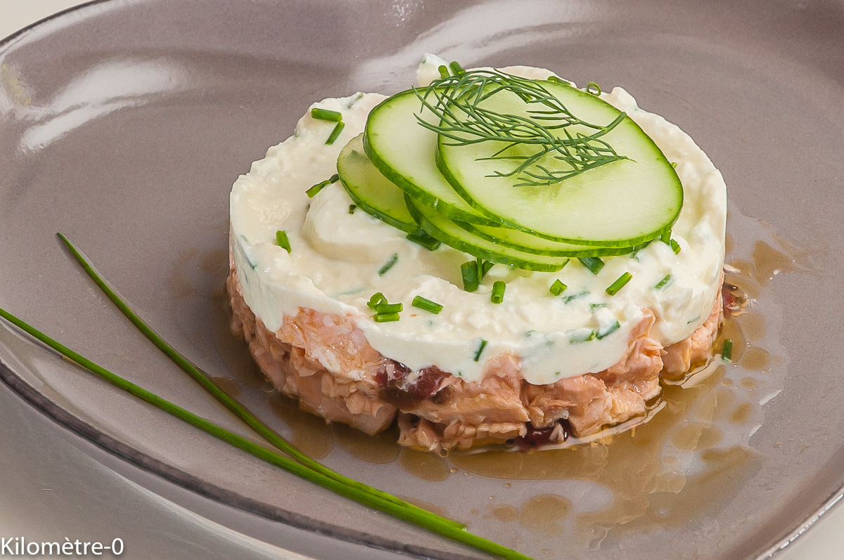 Photo de recette de saumon, saint marcellin, concombre de Kilomètre-0, blog de cuisine réalisée à partir de produits locaux et issus de circuits courts