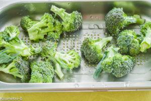 Photo de recette de brocolis, four vapeur de Kilomètre-0, blog de cuisine réalisée à partir de produits locaux et issus de circuits courts