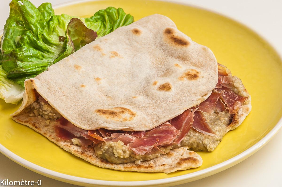 Photo de recette de tortilla, aubergine, jambon, italienne de  Kilomètre-0, blog de cuisine réalisée à partir de produits locaux et issus de circuits courts
