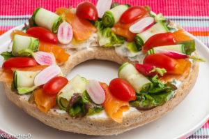Photo de recette de couronne, pain, été, apéro, crudités, facile, beau de  Kilomètre-0, blog de cuisine réalisée à partir de produits locaux et issus de circuits courts