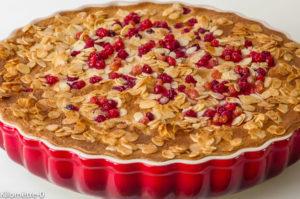 Photo de recette de tarte aux groseilles de Kilomètre-0, blog de cuisine réalisée à partir de produits locaux et issus de circuits courts