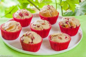 Photo de recette de muffin-groseilles-léger-bio- Kilomètre-0, blog de cuisine réalisée à partir de produits locaux et issus de circuits courts