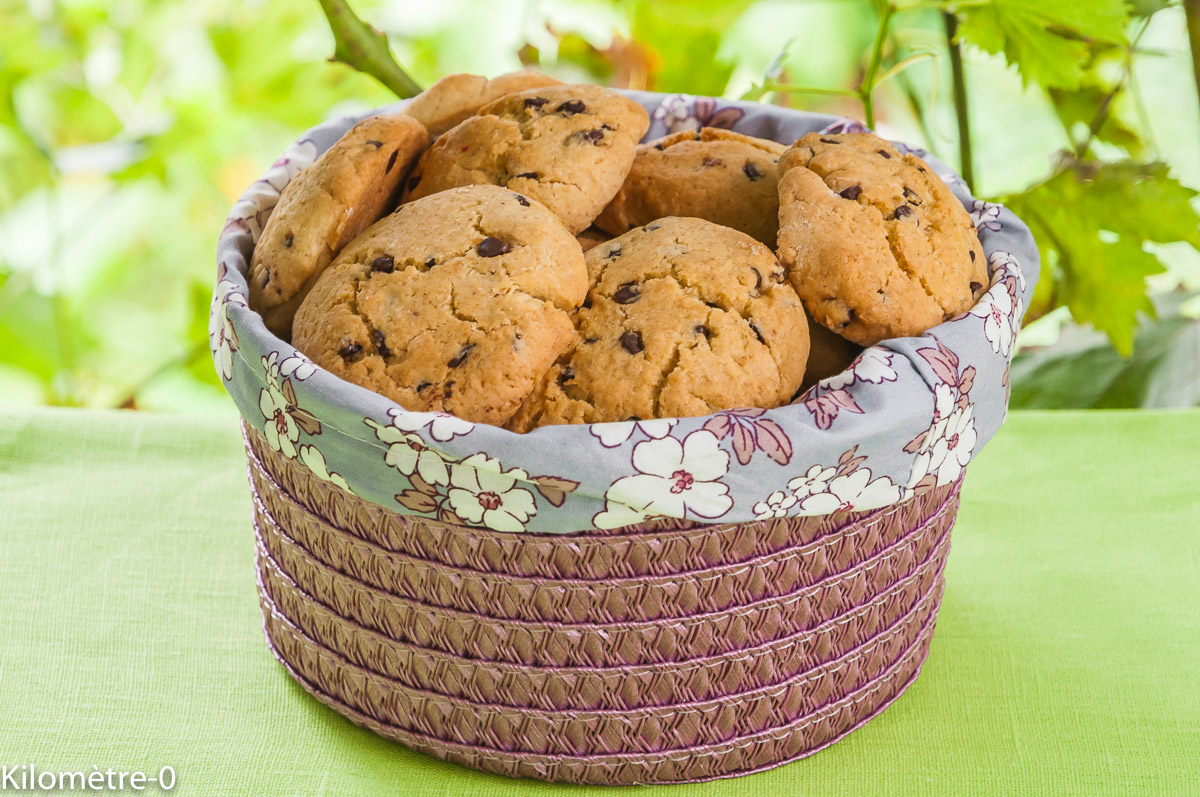Photo de recette de cookies-noix de coco-chocolat-facile-rapide-léger-bio, Kilomètre-0, blog de cuisine réalisée à partir de produits locaux et issus de circuits courts