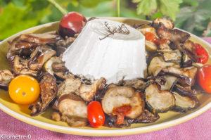 Photo de recette de légumes grillés-ricotta-aubergine-courgette- de Kilomètre-0, blog de cuisine réalisée à partir de produits locaux et issus de circuits courts