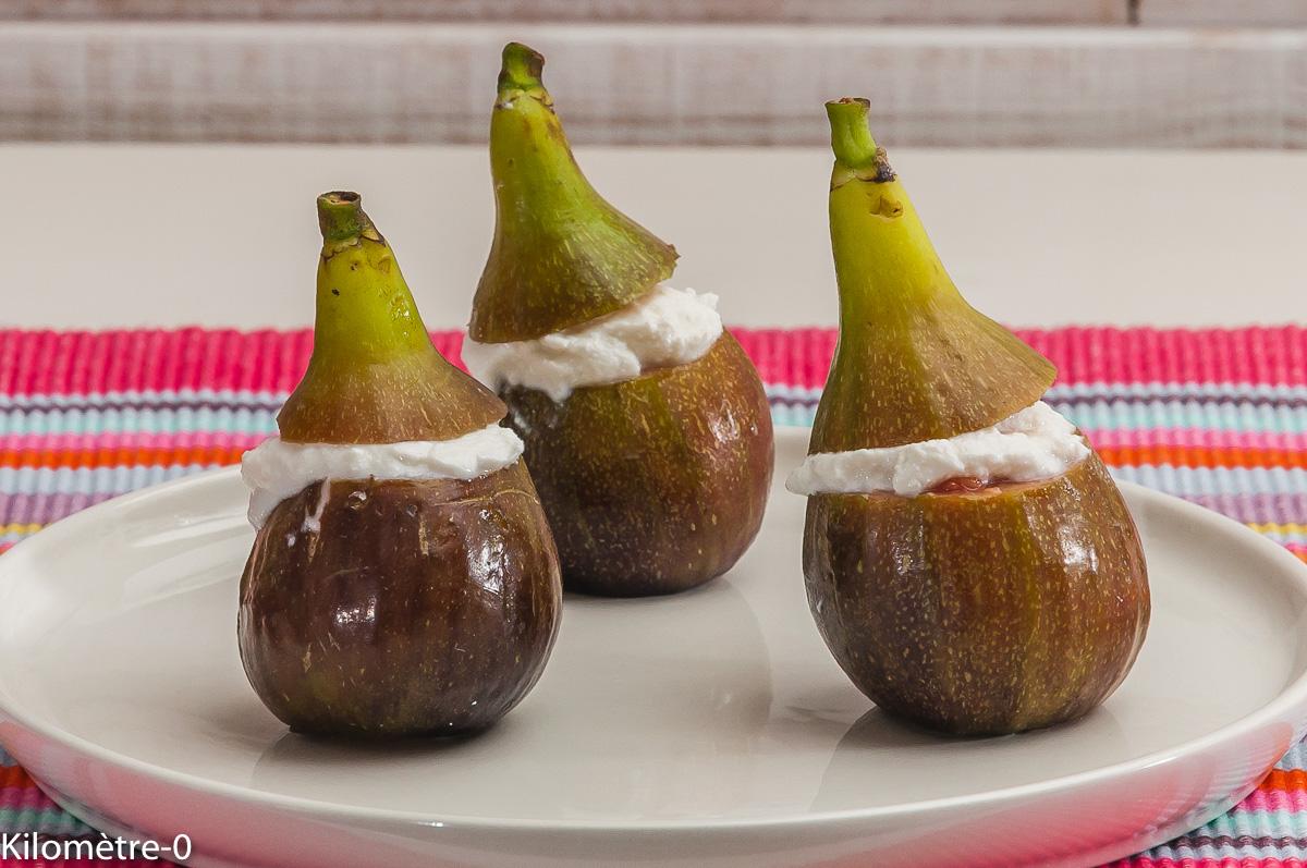 Photo de recette de figue, facile, ricotta, léger, apéro de Kilomètre-0, blog de cuisine réalisée à partir de produits locaux et issus de circuits courts