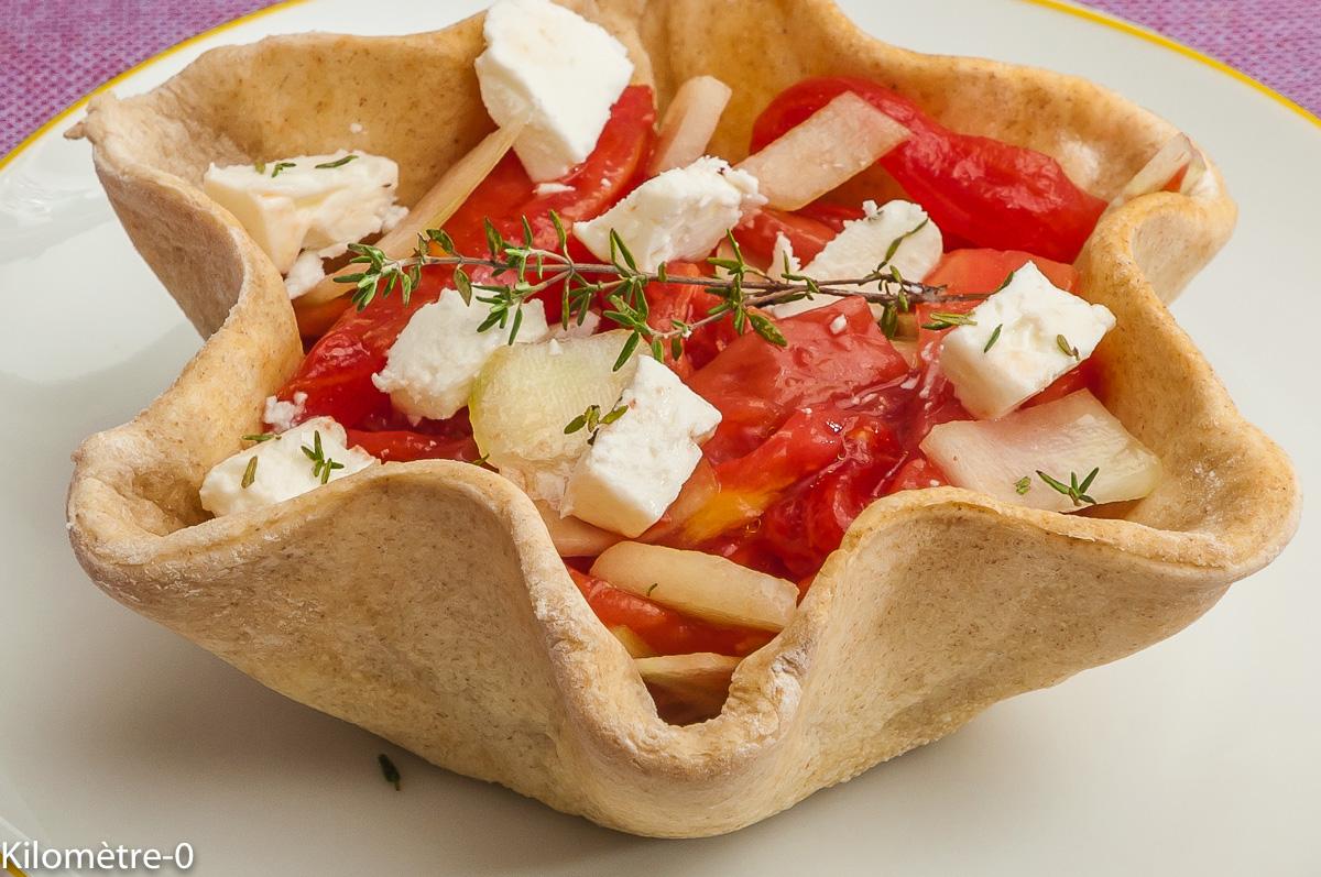 Photo de recette de salade grecque, coque, pizza, fêta, tomates, concombre, bio de Kilomètre-0, blog de cuisine réalisée à partir de produits locaux et issus de circuits courts