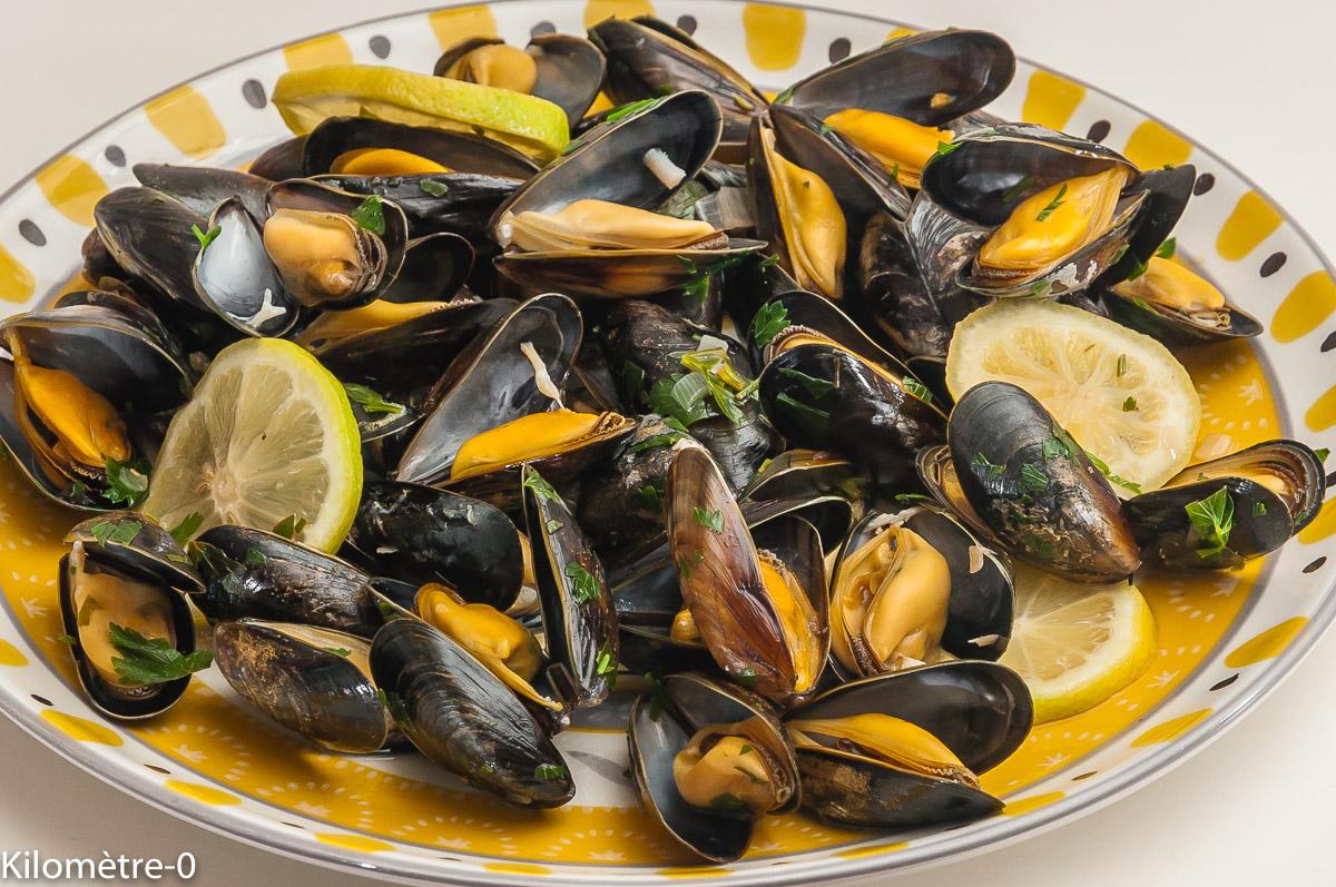 Photo de recette de moules, citron de  Kilomètre-0, blog de cuisine réalisée à partir de produits locaux et issus de circuits courts