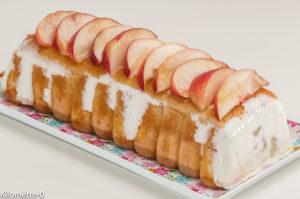 Photo de recette de charlotte facile, légère, nectarines, fruits, rapide de Kilomètre-0, blog de cuisine réalisée à partir de produits locaux et issus de circuits courts