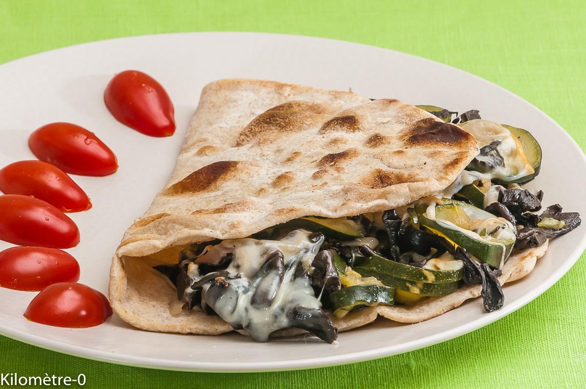 Photo de recette de tortilla, courgette, champignon et scamorza  Kilomètre-0, blog de cuisine réalisée à partir de produits locaux et issus de circuits courts