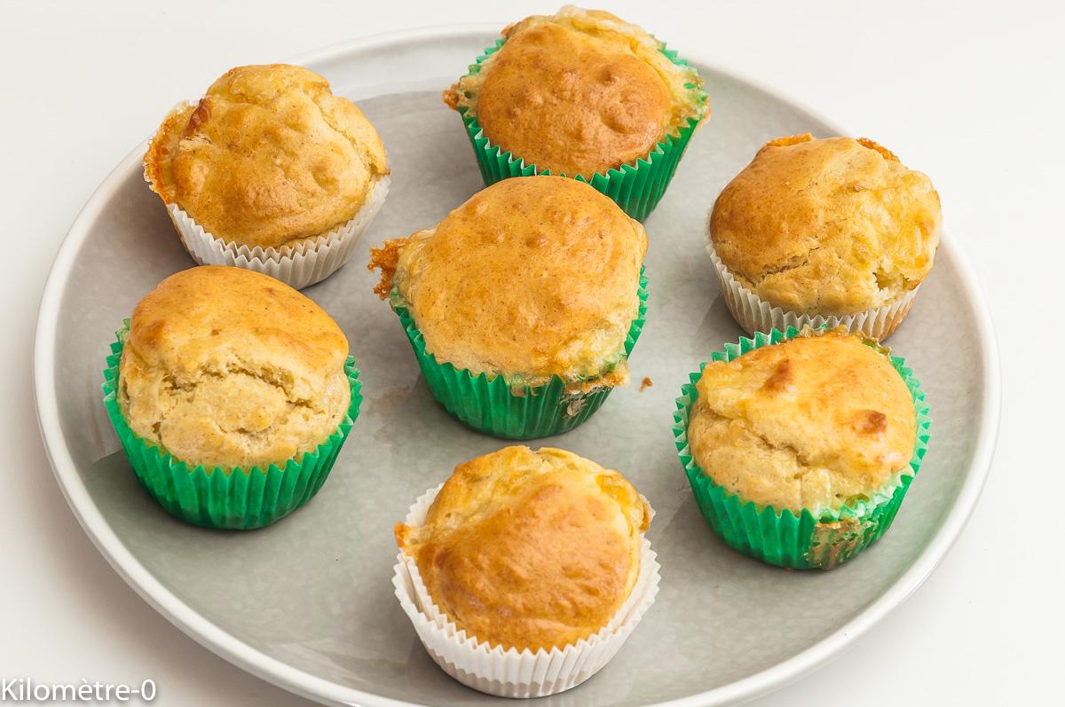 Photo de recette de muffins, curé nantais, jambon, apéro facile, Kilomètre-0, blog de cuisine réalisée à partir de produits locaux et issus de circuits courts