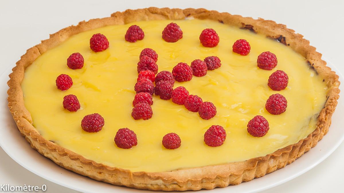 Photo de recette de tarte au citron de Kilomètre-0, blog de cuisine réalisée à partir de produits locaux et issus de circuits courts