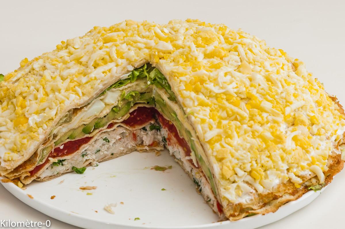 Photo de recette de gâteau de crêpes, merlu de Kilomètre-0, blog de cuisine réalisée à partir de produits locaux et issus de circuits courts