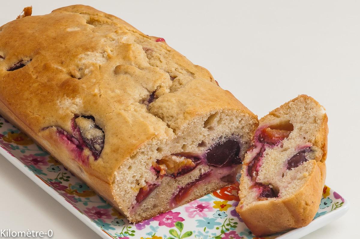 Photo de recette de gâteau du matin, prunes, bio, facile, rapide de Kilomètre-0, blog de cuisine réalisée à partir de produits locaux et issus de circuits courts