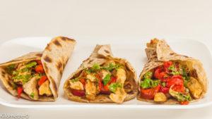 Photo de recette de cuisine mexicaine, tortilla, maison,  poulet, poivrons, de Kilomètre-0, blog de cuisine réalisée à partir de produits locaux et issus de circuits courts