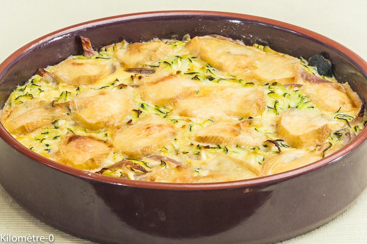 Photo de recette de gratin de courgette, curé nantais de  Kilomètre-0, blog de cuisine réalisée à partir de produits locaux et issus de circuits courts