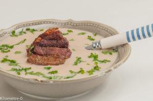 Photo de recette de soupe de mogettes, rillaud, cuisine vendéenne, angevine, Kilomètre-0, blog de cuisine réalisée à partir de produits locaux et issus de circuits courts