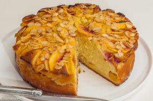 Photo de recette de gâteau, ricotta, nectarines, pêches de Kilomètre-0, blog de cuisine réalisée à partir de produits locaux et issus de circuits courts