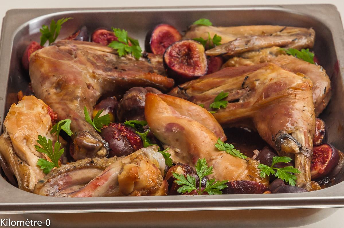 Photo de recette de poulet bio aux figues de Kilomètre-0, blog de cuisine réalisée à partir de produits locaux et issus de circuits courts